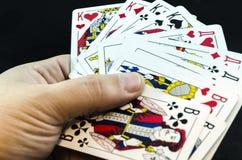 карточки топят играть покер королевский Стоковое Изображение