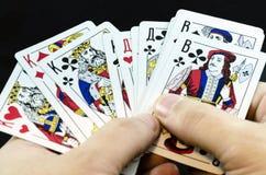 карточки топят играть покер королевский Стоковые Изображения