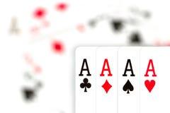 Карточки, тузы и шутник 12 Стоковая Фотография