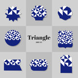 Карточки формы косоугольника и квадрата собрания Стоковое Фото