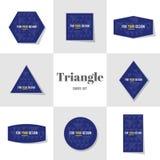Карточки формы косоугольника и треугольника собрания Стоковое фото RF