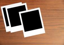 Карточки фото поляроидного фильма винтажные пустые Стоковое Изображение