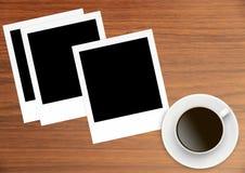 Карточки фото поляроидного фильма винтажные пустые Стоковые Фотографии RF