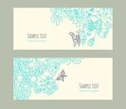 Карточки флористического орнамента Стоковое Фото