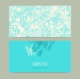 Карточки флористического орнамента Стоковые Фотографии RF