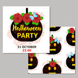 Карточки хеллоуина patry Стоковое Изображение RF
