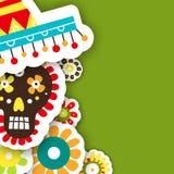 Карточки шаблона на мексиканский праздник Иллюстрация вектора с Стоковая Фотография RF