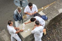 Карточки людей играя Стоковое фото RF