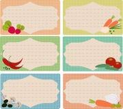 Карточки для рецептов Стоковые Фотографии RF