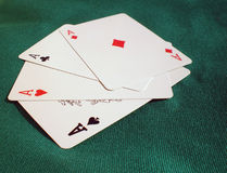 карточки 4 тузов Стоковое фото RF