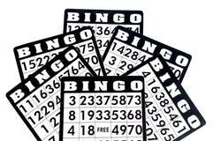 Карточки Bingo стоковое изображение