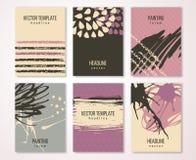Карточки Grunge винтажные, ретро плакат стиля иллюстрация вектора