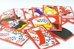 Карточки Hanafuda японца играя Стоковые Изображения RF