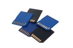 Карточки SD изолированные на белизне Стоковые Изображения RF