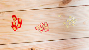 Карточки SIM различного форм-фактора (стандартный, микро-, nano) Стоковая Фотография