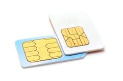 Карточки Sim Стоковое Изображение RF
