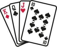 Карточки Skat играя в азартные игры бесплатная иллюстрация