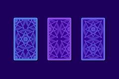 Карточки Tarot обратной стороной Классические дизайны Стоковое Изображение
