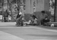 Карточки Tarot прочитанные на улице Стоковые Изображения RF