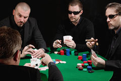 карточная игра серьезная Стоковые Фото