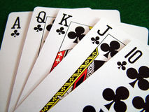 карточная игра Стоковое Изображение