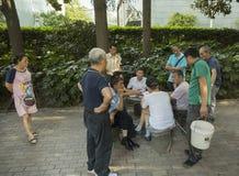 Карточные игроки в Шанхае Стоковые Фотографии RF