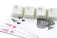 карточные игры он-лайн Стоковая Фотография