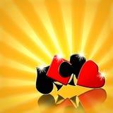 карточные игры предпосылки Стоковые Фотографии RF