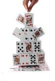 Карточный домик Стоковая Фотография
