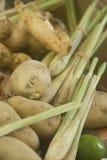 картошка известки лимона травы имбиря стоковая фотография rf