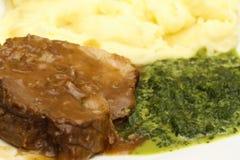 картошка мяса еды Стоковые Изображения