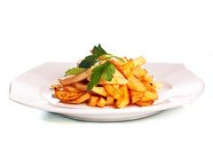 картошка плиты fries стоковое фото rf