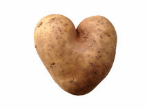 Картошка сердца форменная стоковое изображение