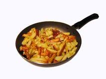 картошка сковороды стоковое изображение rf