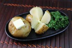 Картошка с маслом Стоковое Изображение