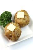 Картошка с маслом Стоковое Фото