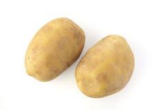 2 картошки Брайна на белой предпосылке Стоковое фото RF