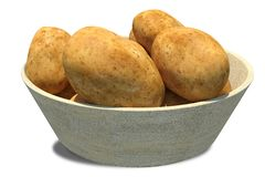 Картошки внутри каменного шара стоковое фото rf