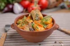 Картошки жаркого и нервюры свинины Стоковые Изображения