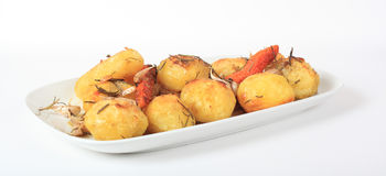 картошки зажарили в духовке rosemary Стоковое Изображение RF