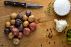 Картошки и ингридиенты младенца Стоковые Фото