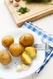 Картошки кипеть детенышами с укропом стоковые изображения