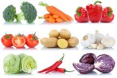 Картошки морковей болгарского перца салата томатов овощей собирают Стоковое Изображение RF