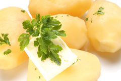 картошки петрушки масла Стоковое фото RF
