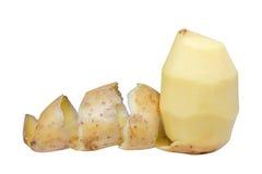 Картошки при корка изолированная на белой предпосылке Стоковое Изображение RF