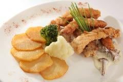 картошки рыб Стоковые Изображения