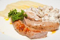 Картошки сосиски Стоковая Фотография RF