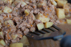 Картошки с потушенным мясом Стоковые Изображения RF
