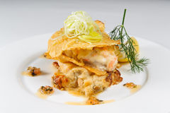 Картошки с соусом мяса стоковая фотография