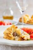 Картошки Duchesse с грибами Стоковая Фотография